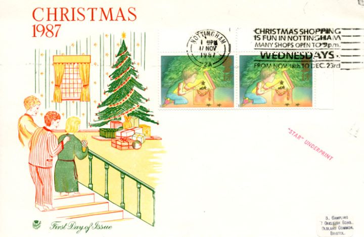Christmas 1987, Stamps from Discount Sheetlet