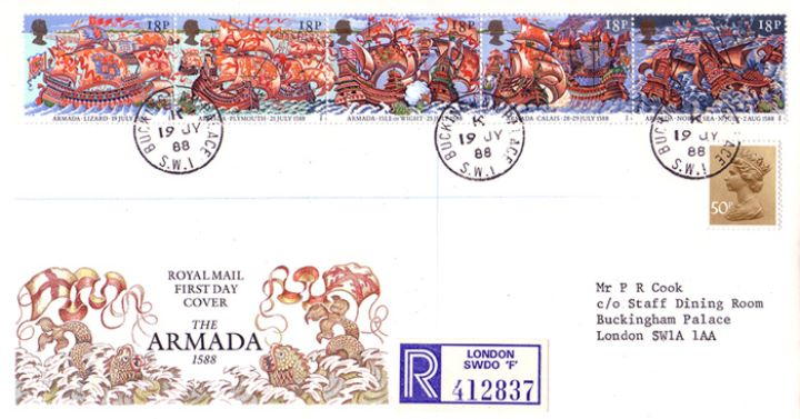 Spanish Armada | First Day Cover / BFDC