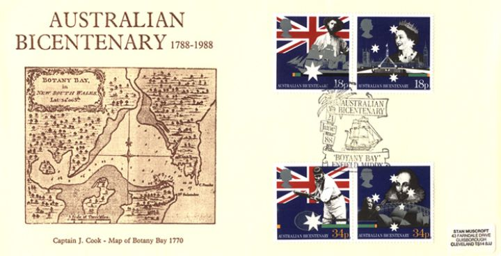Australian Bicentenary, Map of Botany Bay, 1770