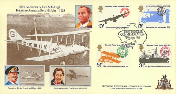 Bert Hinkler, First Solo Flight Britain/Australia