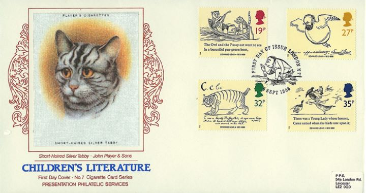 Edward Lear: Stamps, Short Haired Silver Tabby