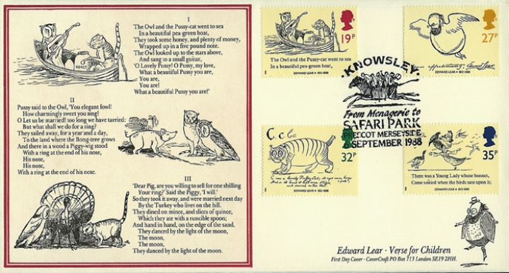 Edward Lear: Stamps, Knowsley Safari Park