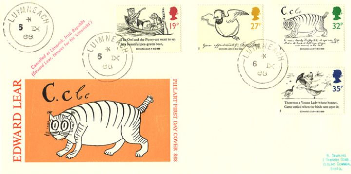 Edward Lear: Stamps, C is for CAT