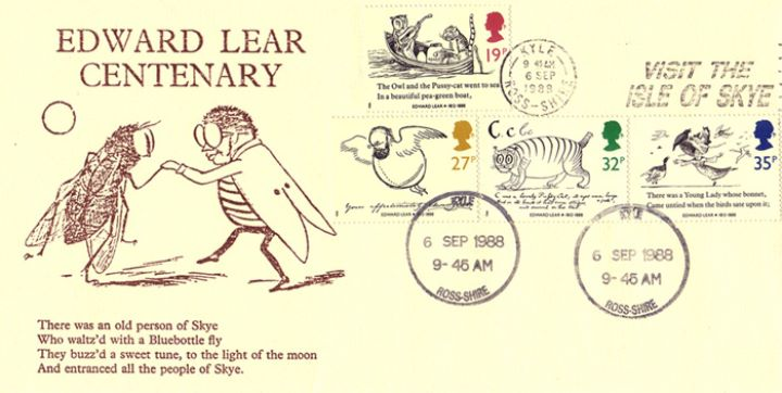 Edward Lear: Stamps, There was an old person from Syke....