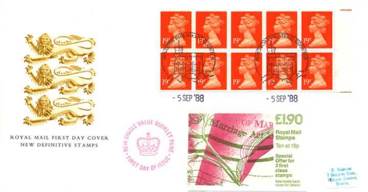 Counter: New Design: £1.90 Marriage Act, Heraldic Lions