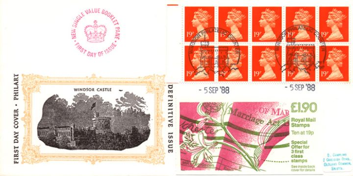 Counter: New Design: £1.90 Marriage Act, Windsor Castle