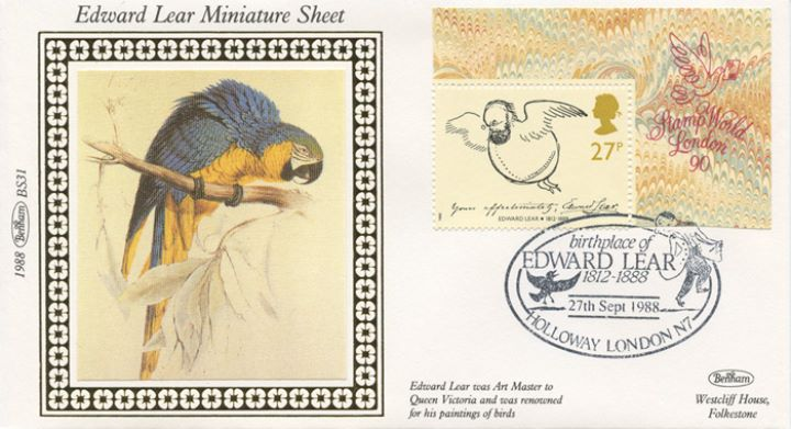 Edward Lear: Miniature Sheet, Parrot