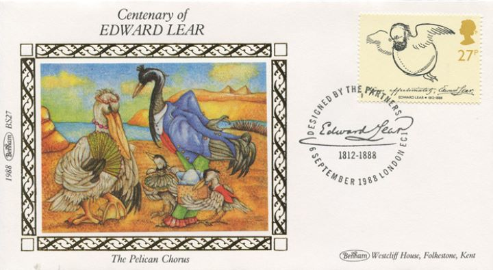 Edward Lear: Stamps, The Pelican Chorus