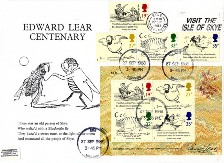 Edward Lear: Miniature Sheet, There was an old person of Skye..