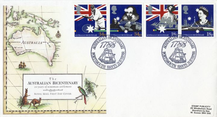 Australian Bicentenary, Early map of Australia