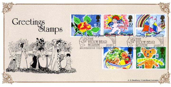 Greetings Stamps, Procession of Flowers