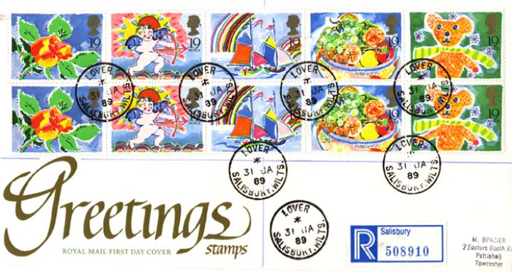 Greetings Stamps, CDS Postmarks