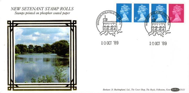 Machins: 15p Readers' Digest Stamp Coil, Lake Scene
