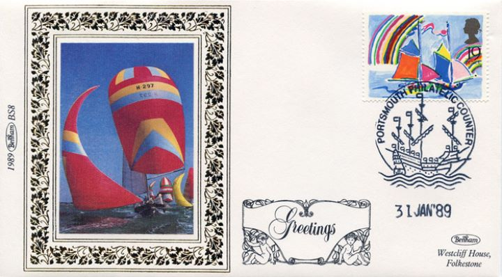 Greetings Stamps, Sailing boats
