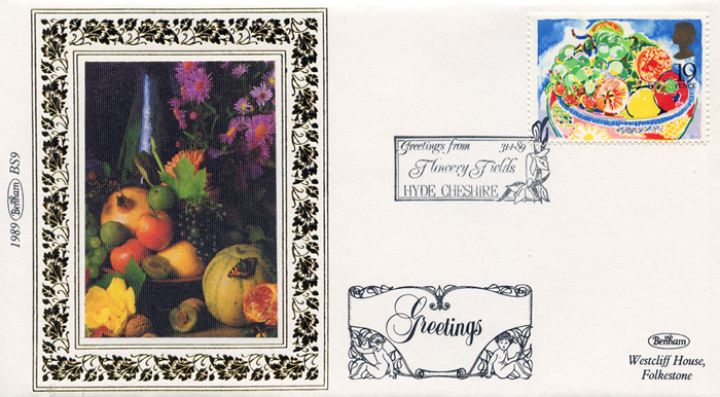 Greetings Stamps, Bowl of Fruit