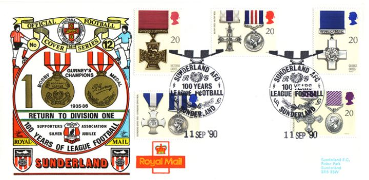 Gallantry, Sunderland 100 Years League Football
