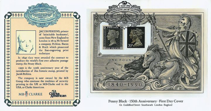 Penny Black: Miniature Sheet, Jacobs Perkins Security Printers