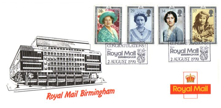 Queen Mother 90th Birthday, Birmingham Royal Mail