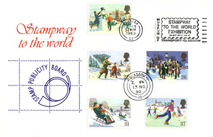 Christmas 1990, Stamp Publicity Board