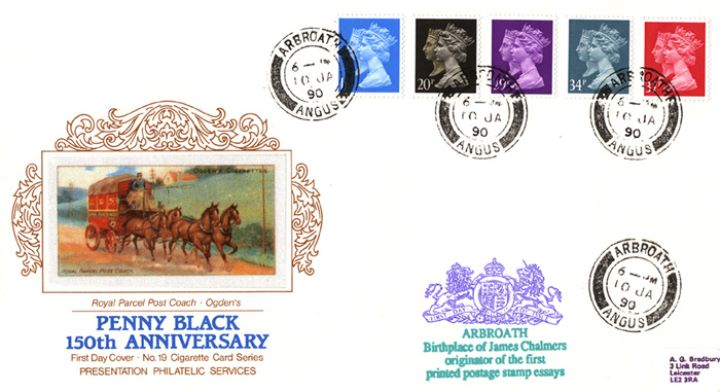 Penny Black Anniversary, Royal Parcel Post Coach