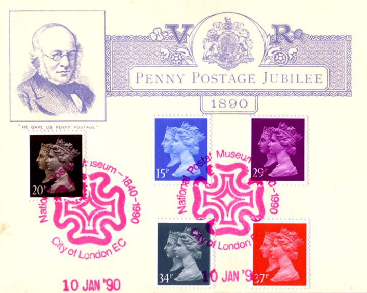Penny Black Anniversary, Penny Postage Jubilee 1890