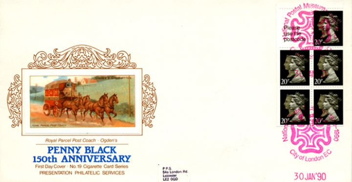 Vending: Penny Black Anniversary: £1 Mills 1 (Wicken Fen), Royal Parcel Post Coach