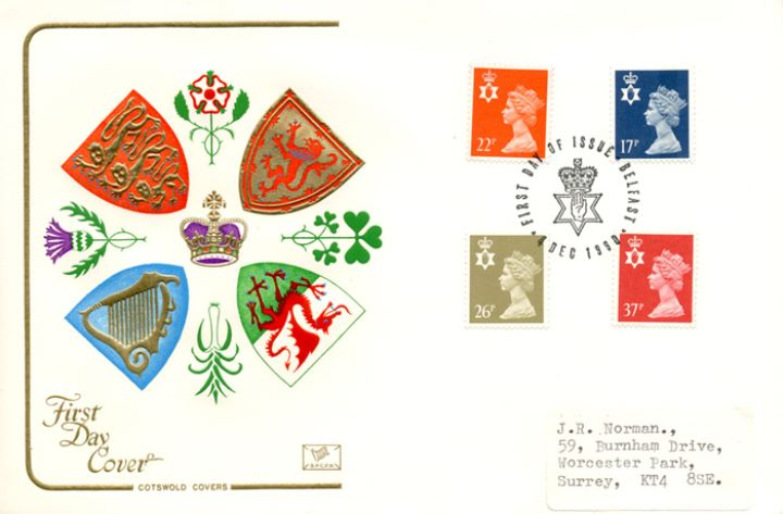 Northern Ireland 17p, 22p, 26p, 37p, Regional Crests
