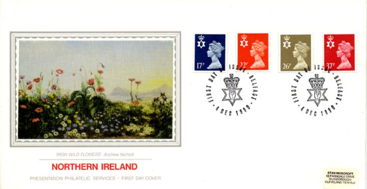 Northern Ireland 17p, 22p, 26p, 37p, Irish Wild Flowers