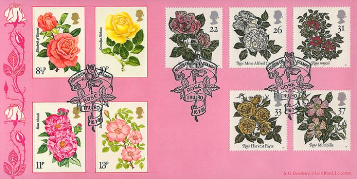 Roses 1991, Roses on Stamps