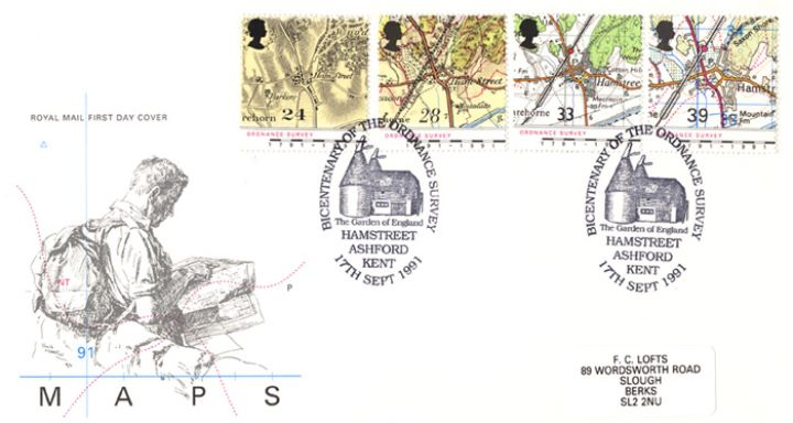 Maps - Ordnance Survey, Rambler with Map