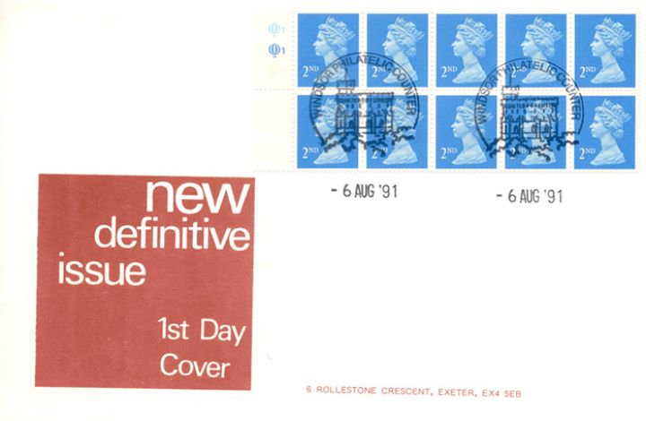 Window: Colour Change: 10 x 2nd perfs all round, New Definitive Issue