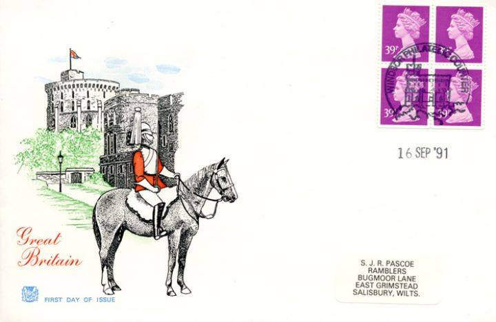 Window: Airmail: £1.56, Windsor Castle