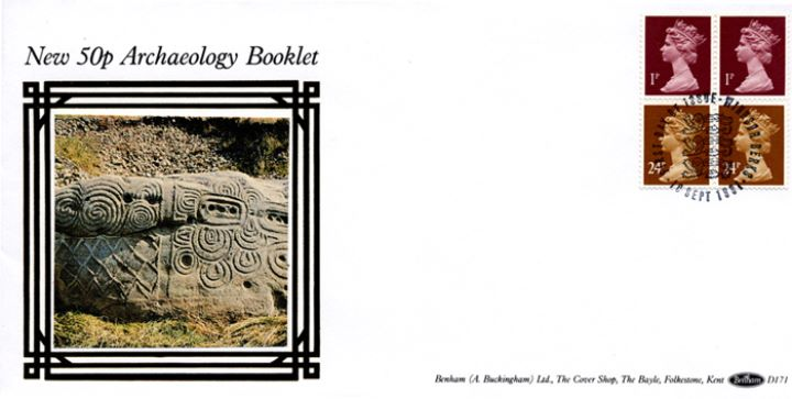 Vending: New Design: 50p Archaeology 1 (Knossos), Treasures in Stone
