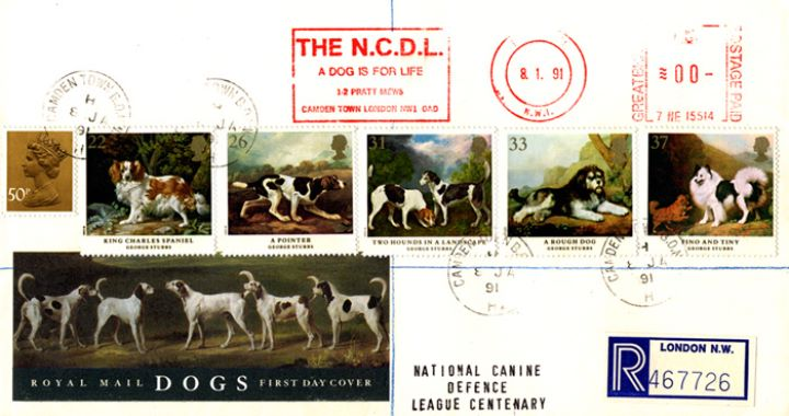 Dogs: Paintings by Stubbs, Meter Mark Cover