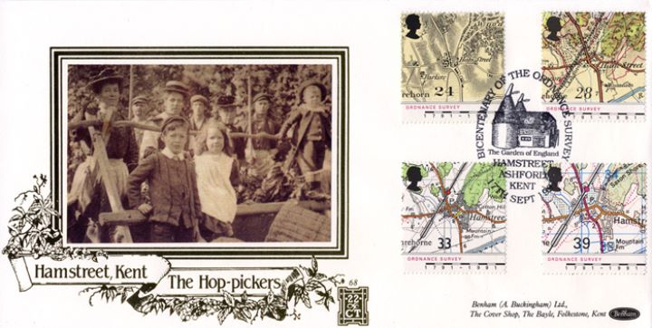 Maps - Ordnance Survey, Hop Pickers