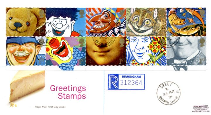 Smiles 1st Class (Greetings), Cheese - cds postmarks