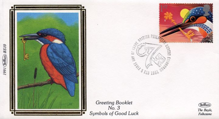 Lucky Symbols (Greetings), Kingfisher with Key