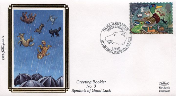 Lucky Symbols (Greetings), Raining Cats and Dogs