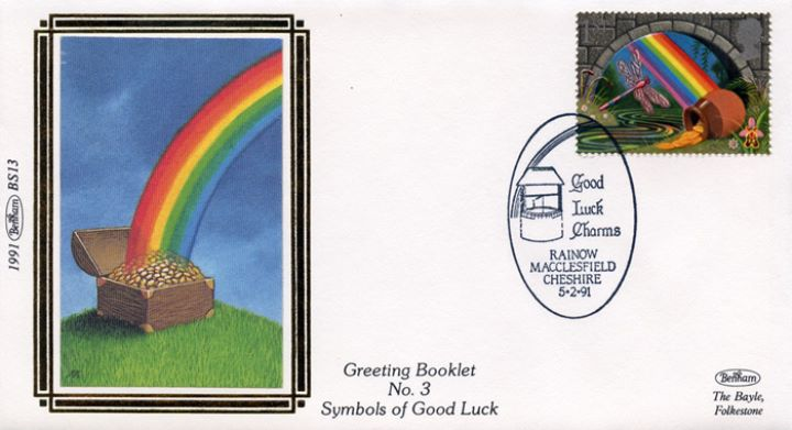 Lucky Symbols (Greetings), Rainbow and Pot of Gold