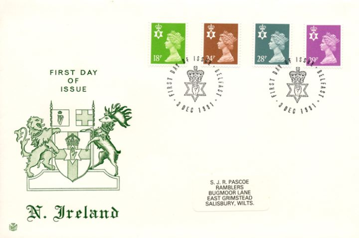 Northern Ireland 18p, 24p, 28p, 39p, Coat of Arms