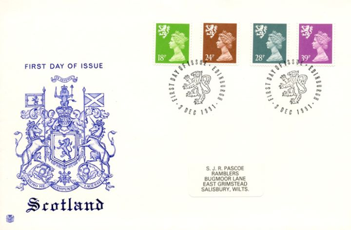 Scotland 18p, 24p, 28p, 39p, Coat of Arms