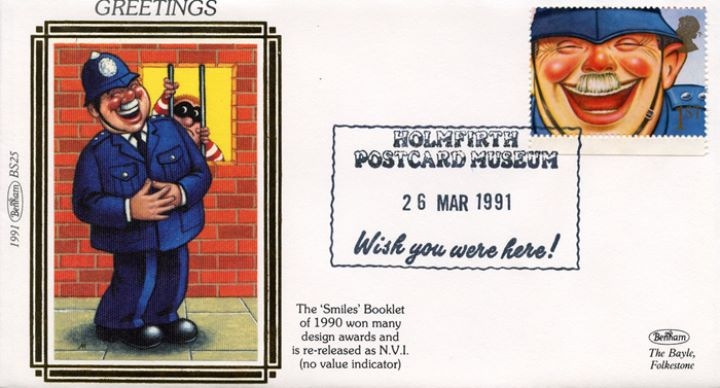Smiles 1st Class (Greetings), Laughing Policeman