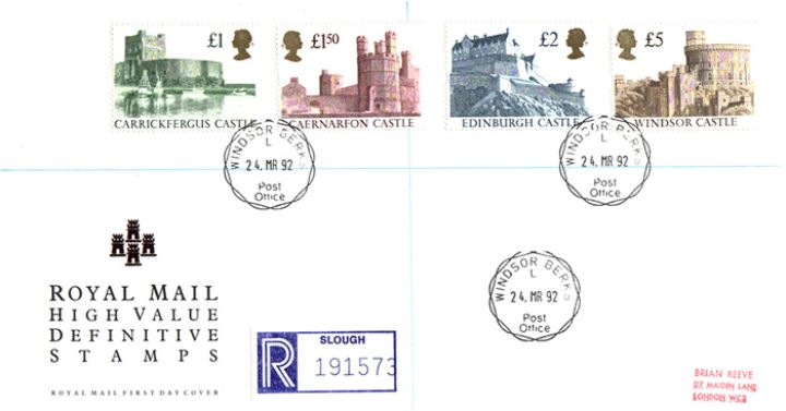 Castles: (EP), High Value Definitive Stamps