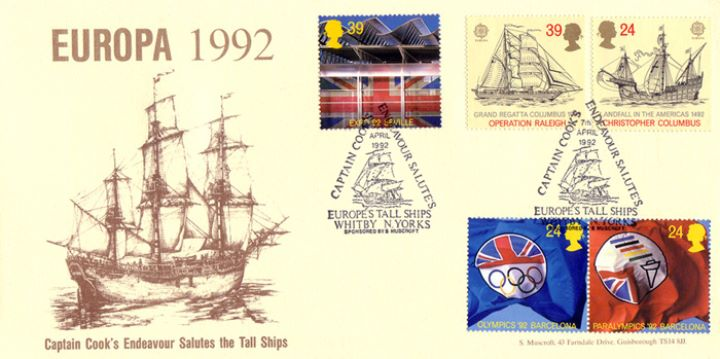 Europa 1992, Captain Cook's Endeavour Salutes the Tall Ships