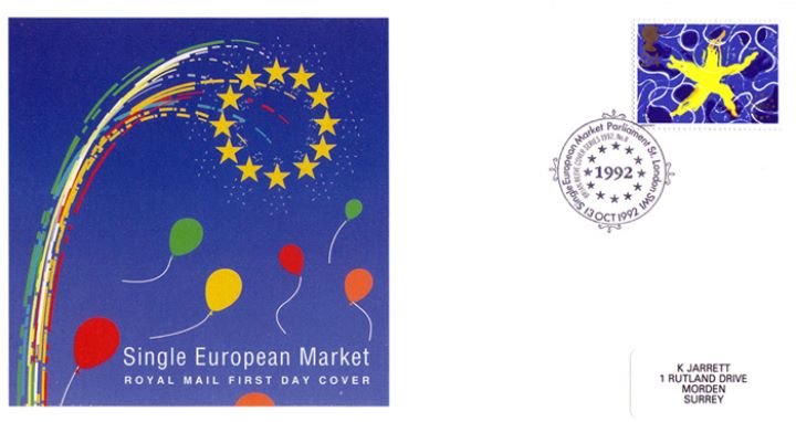 Single European Market, Fireworks, Stars and Balloons