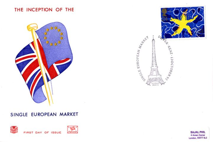 Single European Market, Union Jack & Flag of Europe