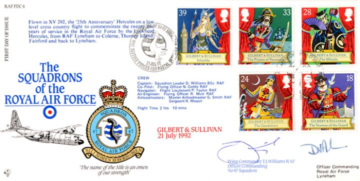 Gilbert & Sullivan, Squadrons of the Royal Air Force