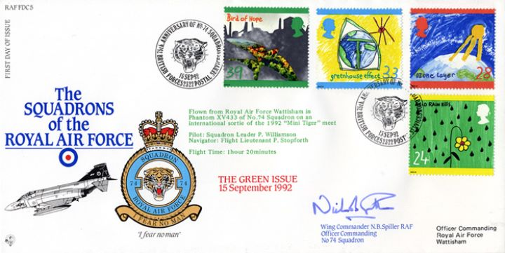 Green Issue, Squadrons of the Royal Air Force