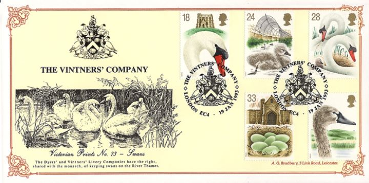 Swans, The Vintners' Company