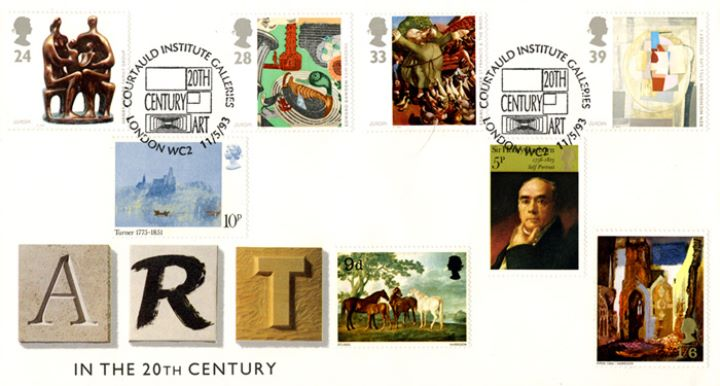 20th Century Art, With previous Arts stamps